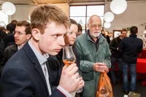 Whisky Birmingham festival - Visitor nosing a dram