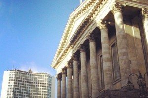 Birmingham Town Hall and Alpha Tower