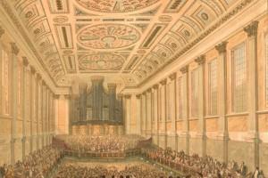 Birmingham Town Hall interior 1845