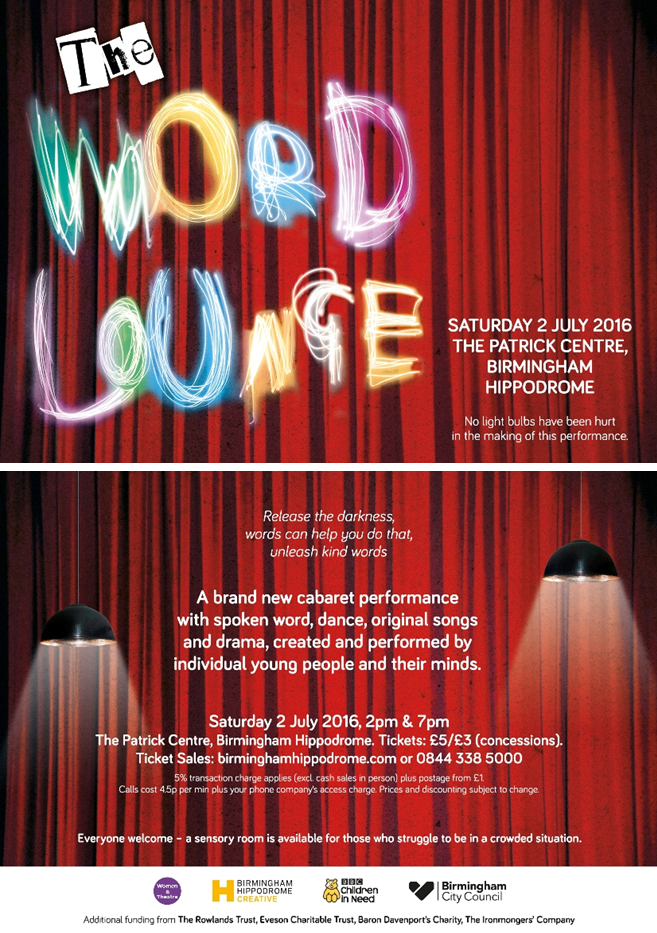 The Word Lounge eflyer
