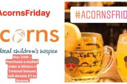 Bitters n' Twisted Venues Support Acorns Hospice with Acorns Friday
