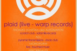 Plaid Live – Warp Records March 10th at Hare & Hounds