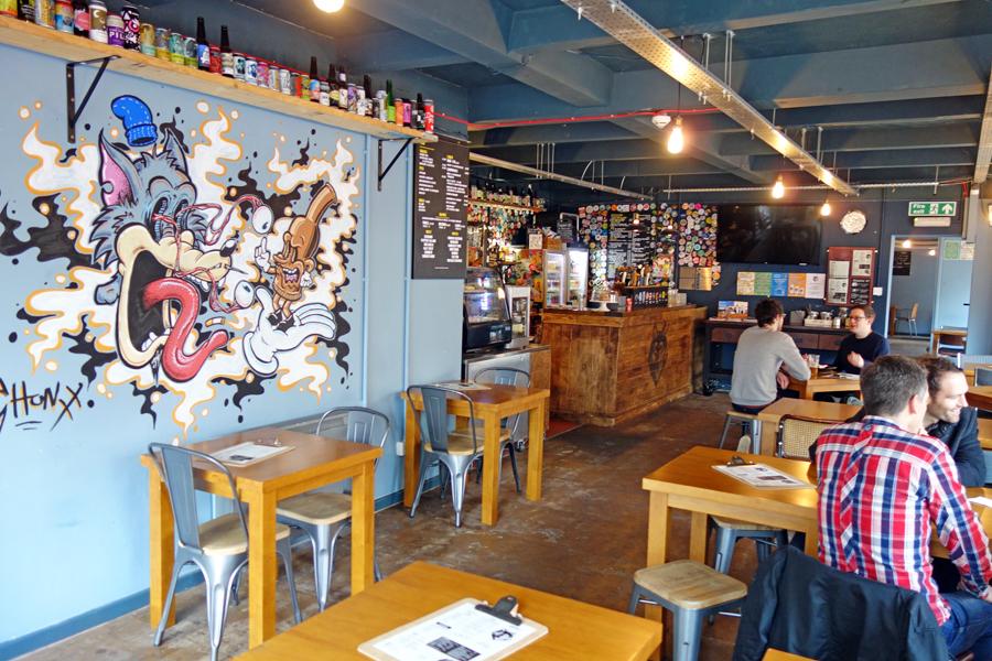 the wolf birmingham main bar