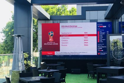 Watch England v Croatia on the Park Regis Beach Terrace via a Big Screen