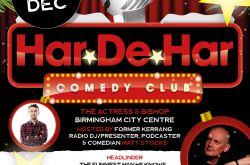 Har-De-Har Christmas comedy club at The Actress and Bishop Thursday 20th!