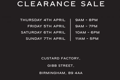 Reiss Clearance Sale at The Custard Factory!