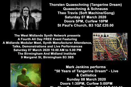 Tangerine Dream to play Birmingham – almost!!!