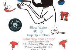 Blow Water Hong Kong pop up kitchen at Peacer