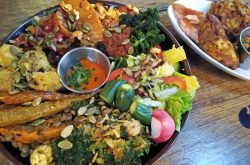 Rainbow food feasts at the Plough by Rhiannon Simpson