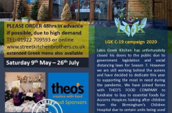 Midlands based Greek Taverna launches delivery service and supports Acorns Hospice during Covid19 Pandemic