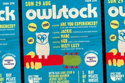 Owlstock is back at The Night Owl this bank holiday Sunday!