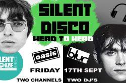 Silent disco Oasis v Blur Head to Head Series