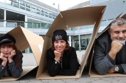 Millennium Points the way to the Big Sleepout for St Basils
